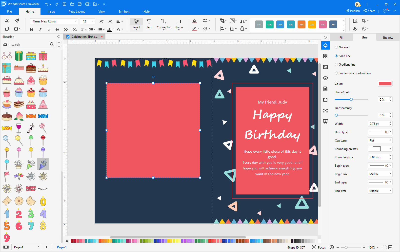 Enrich the card background