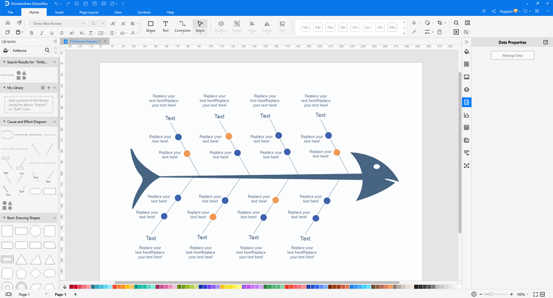 customize a cause and effect diagram in EdrawMax