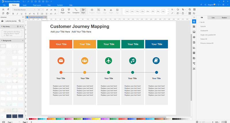 customize Customer Journey Map in EdrawMax