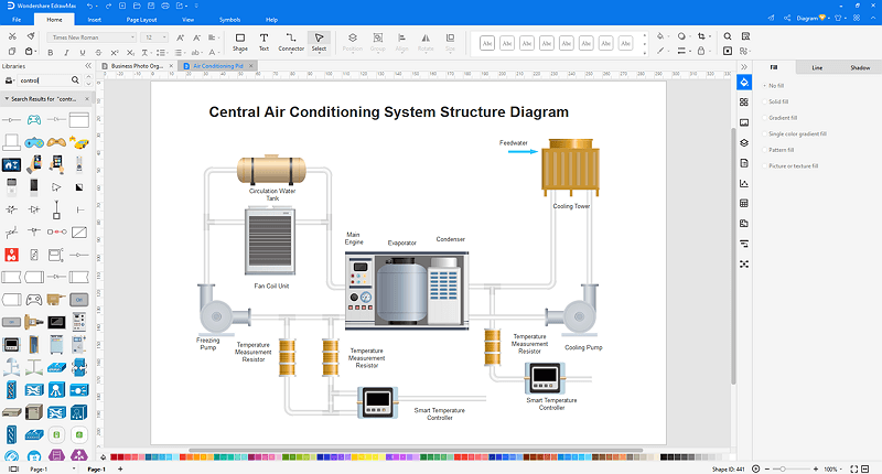customize an industrial control diagram in EdrawMax