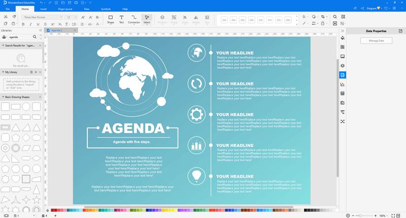 customize a meeting agenda in EdrawMax