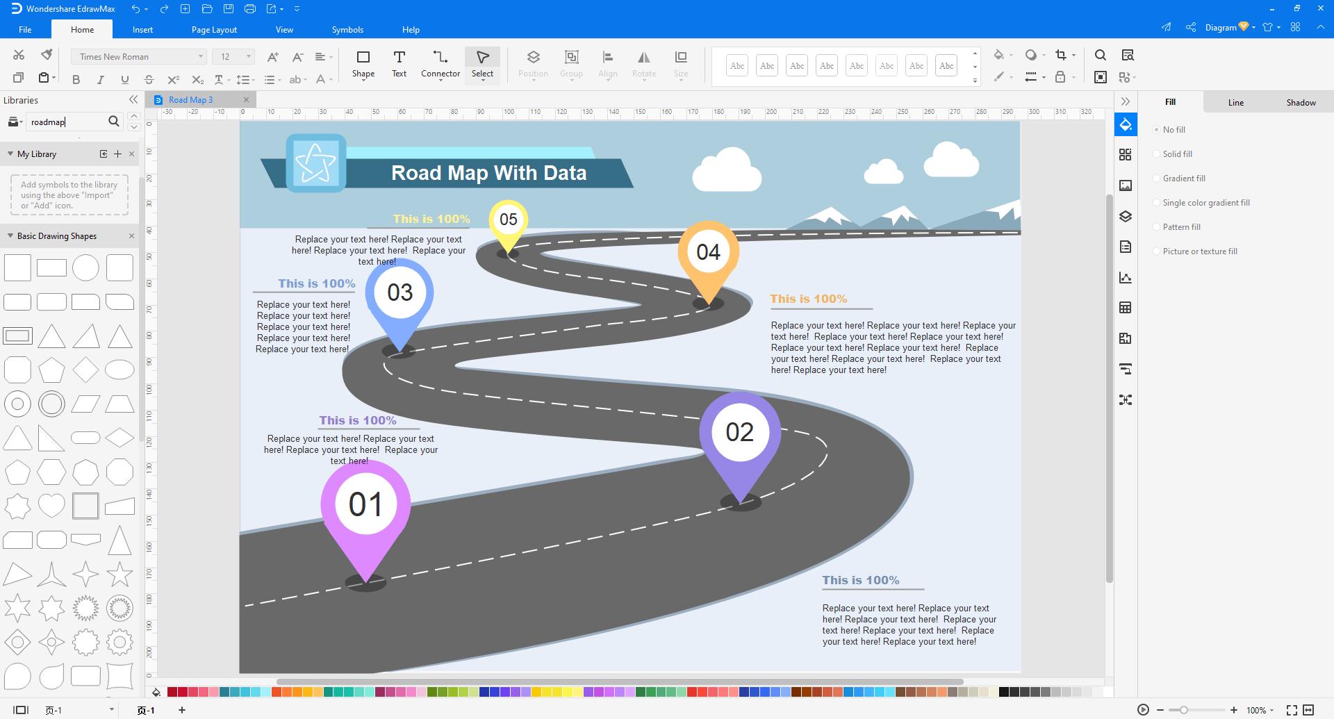customize a business roadmap in EdrawMax