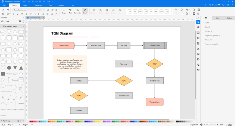 customize a TQM diagram in EdrawMax
