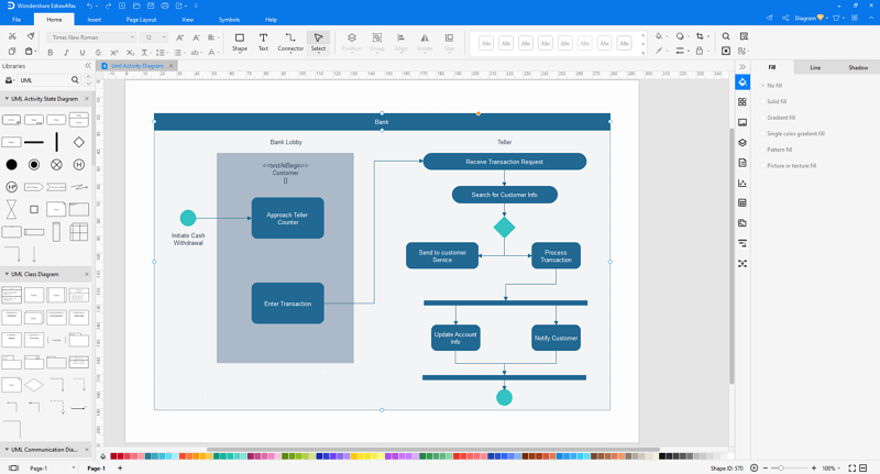 customize a UML diagram in EdrawMax
