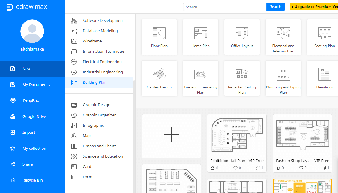 Select a Template or Open a Blank Canvas