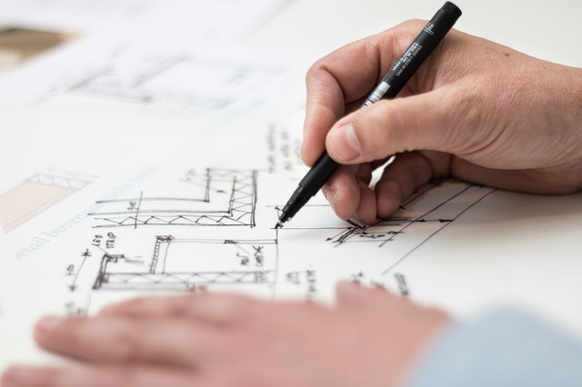 make floor plan with hand