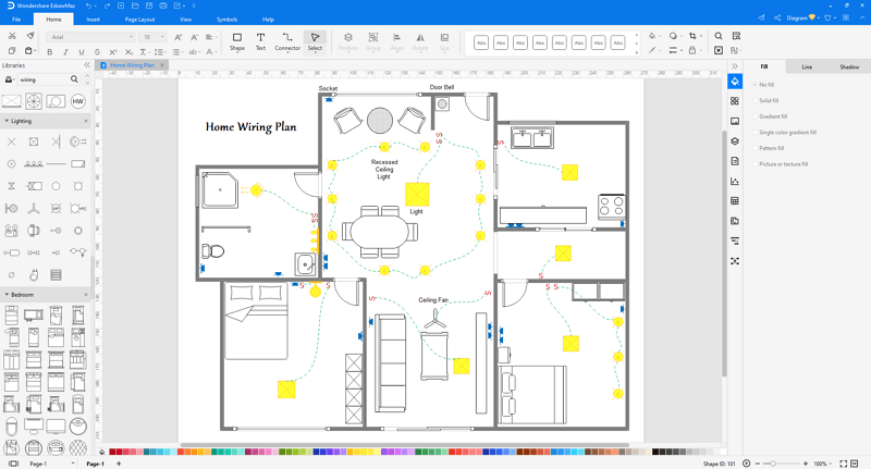 Choose an electrical wiring diagram template in EdrawMax