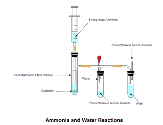 ammonia and water reactions