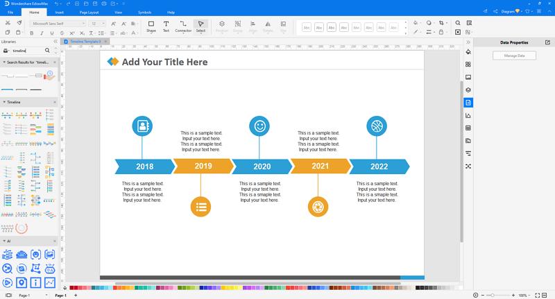 make timelines in EdrawMax