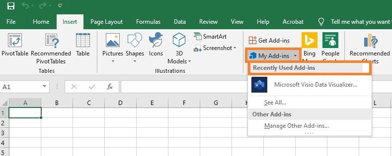Launch Microsoft Visio Data Visualizer