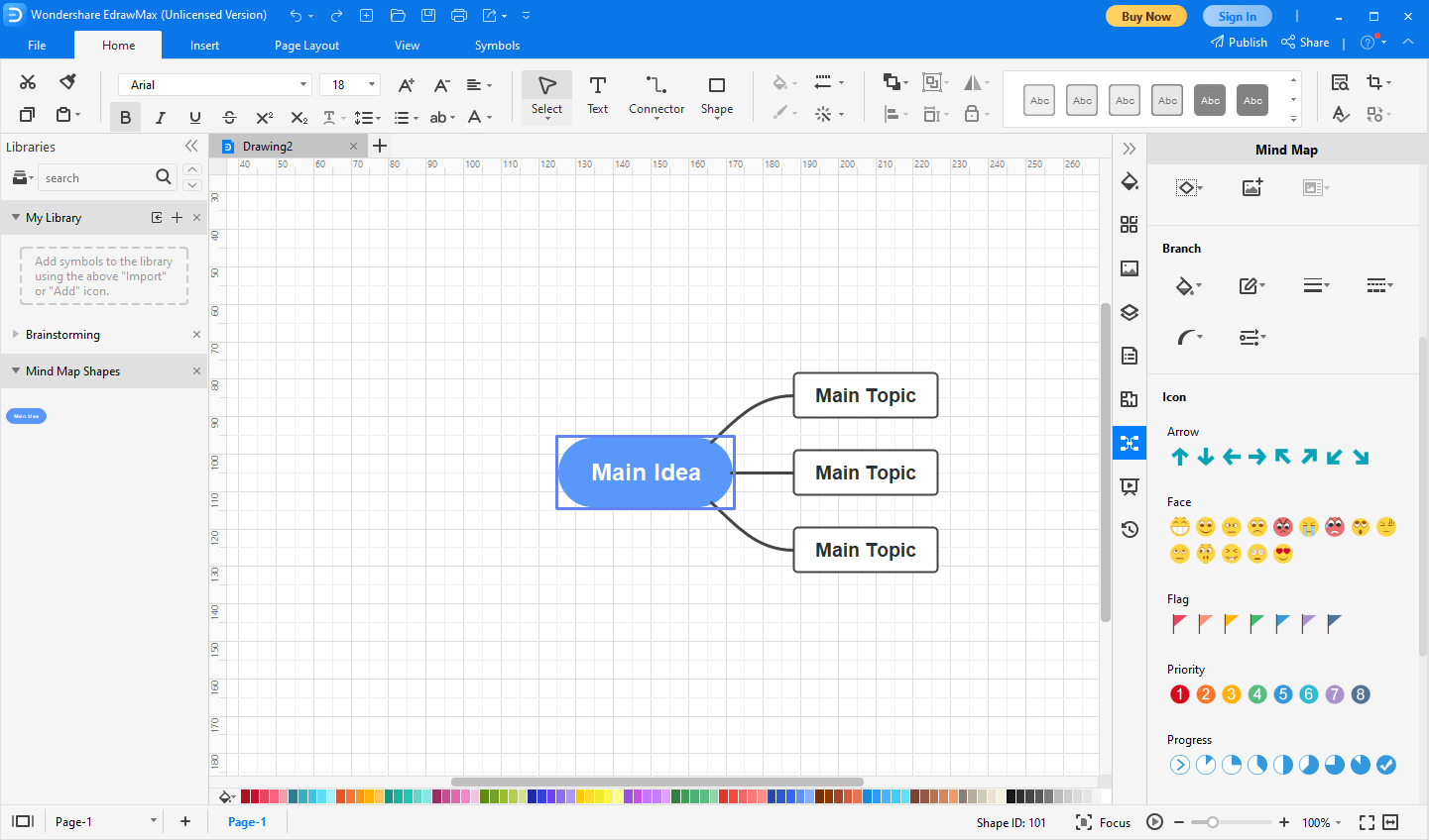 build the mind map in EdrawMax