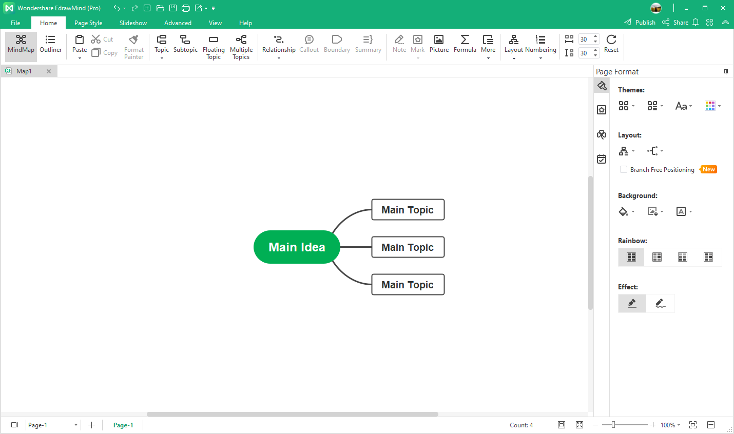 build the mind map