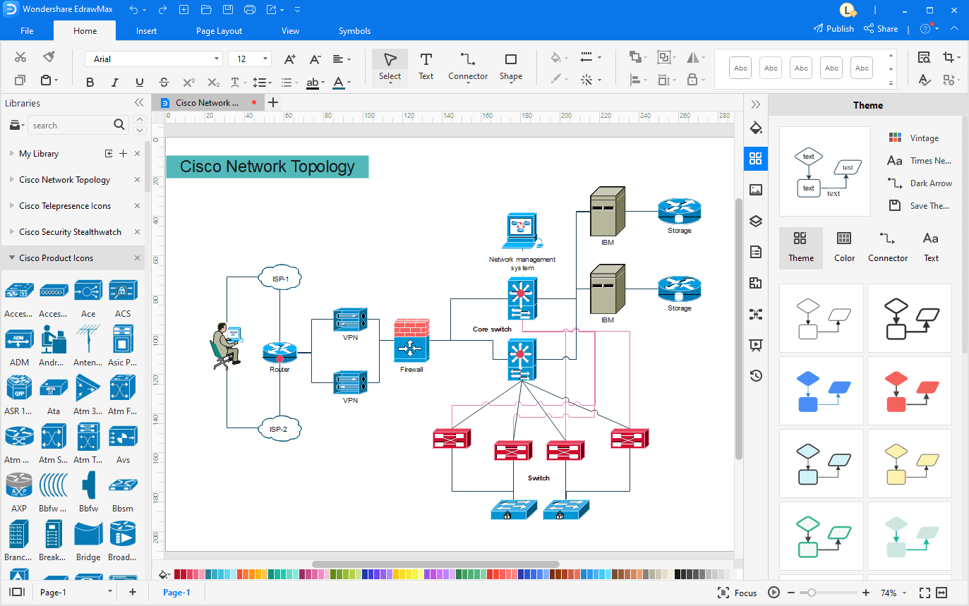 Tailor the Network Diagram Template