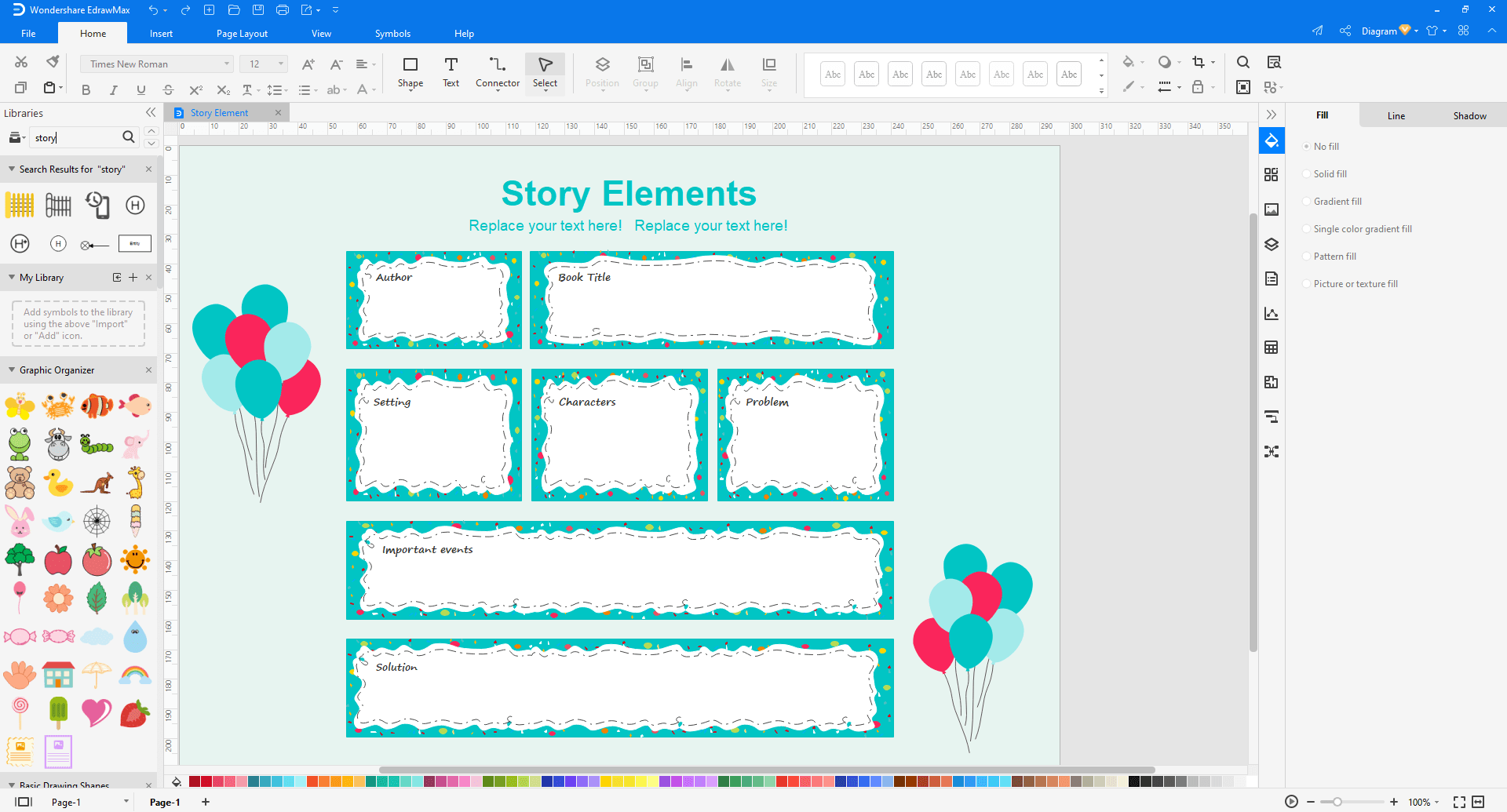 Choose a storyboard template in EdrawMax