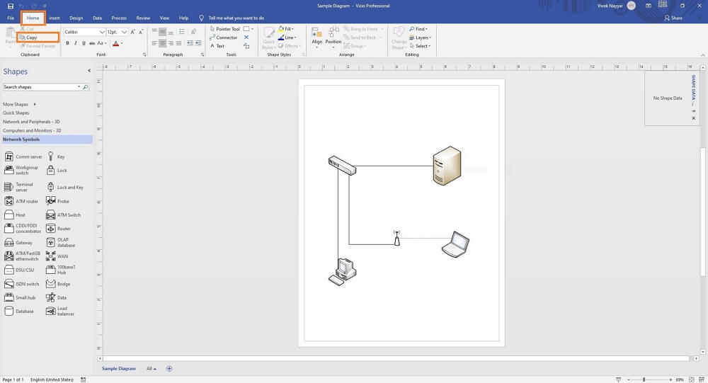 Copy Visio Diagram