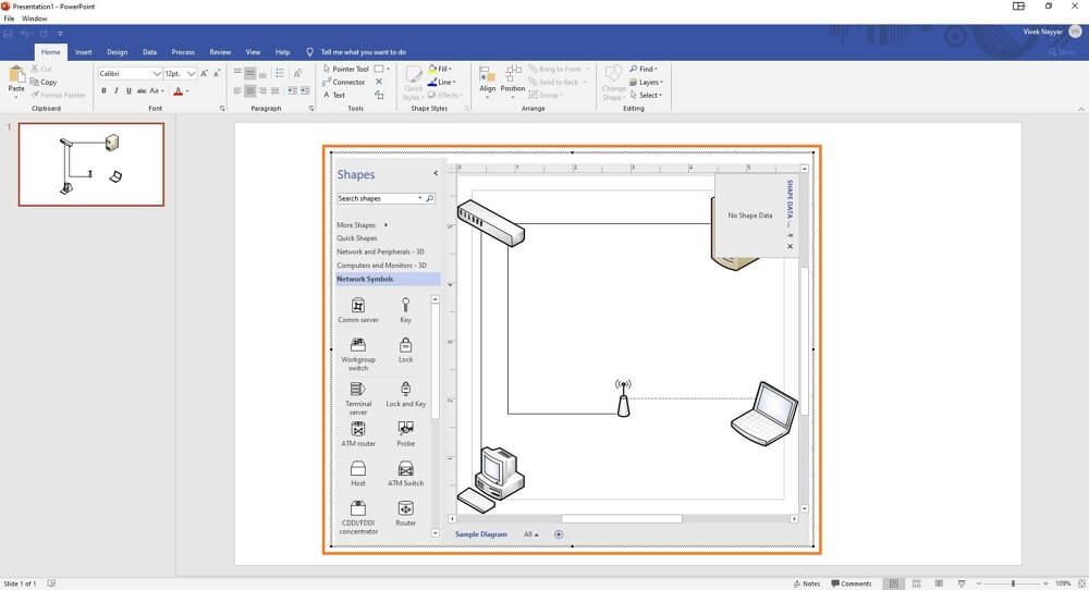 copy visio drawing to powerpoint