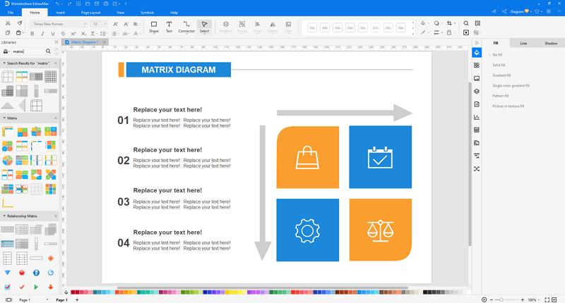 customize an Ansoff Matrix in EdrawMax