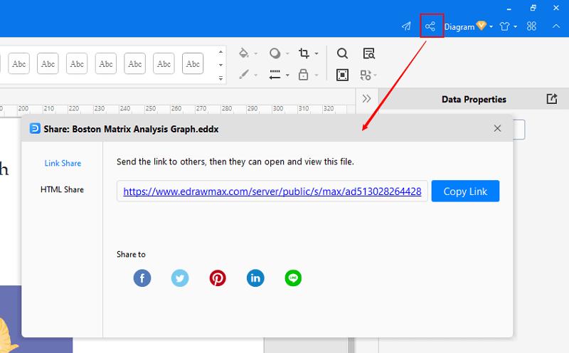 share and publish BCG Matrix