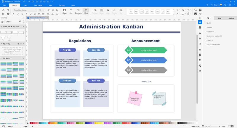 customize a kanban diagram in EdrawMax