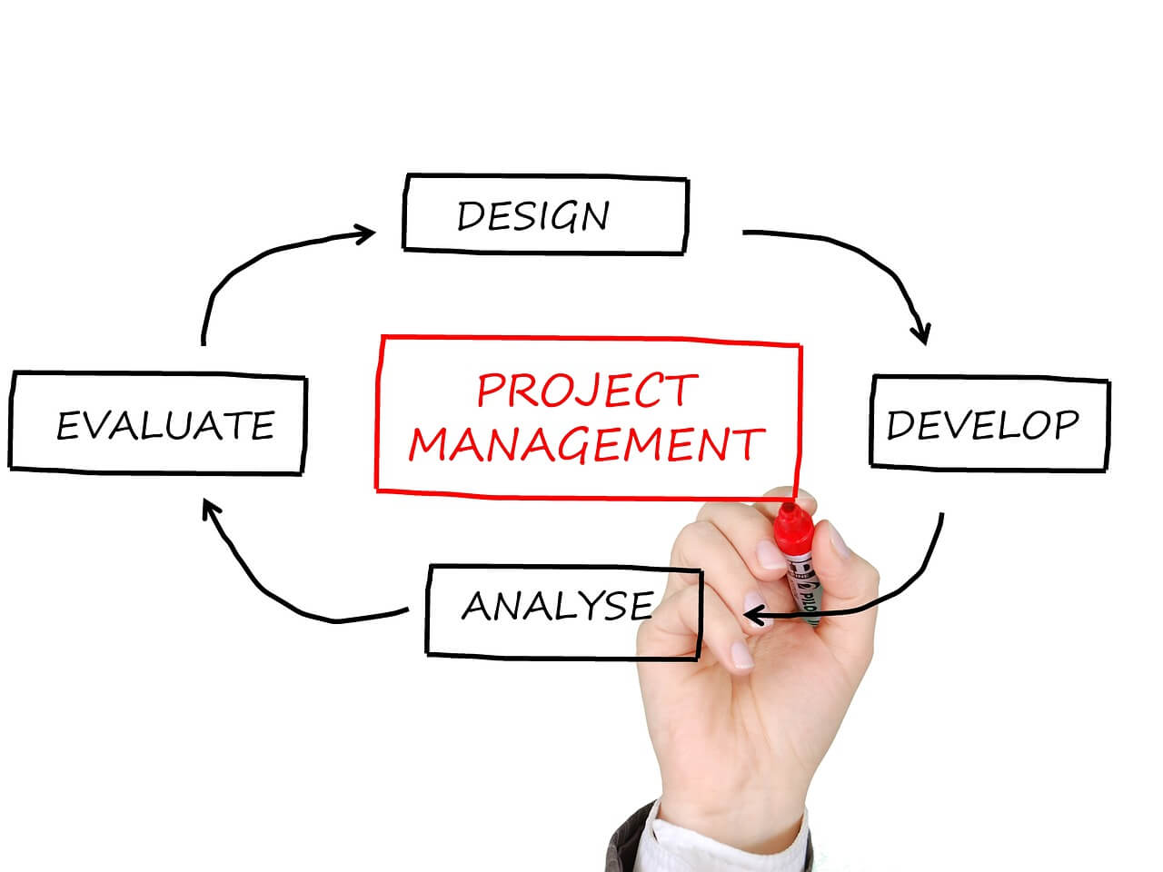 steps required in project management