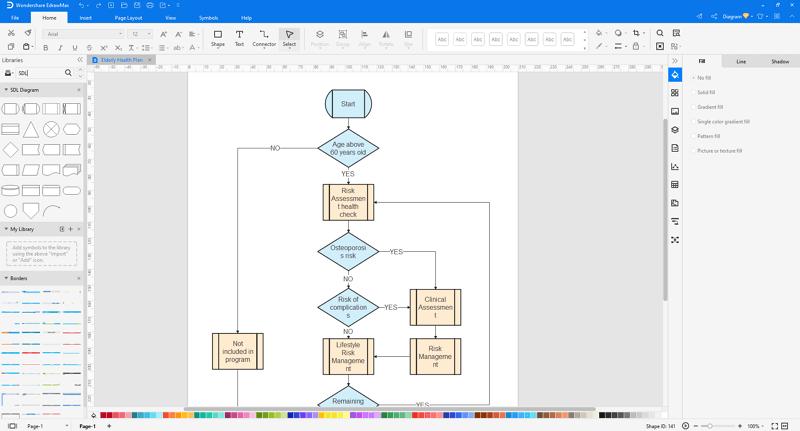 make SDL diagram in EdrawMax