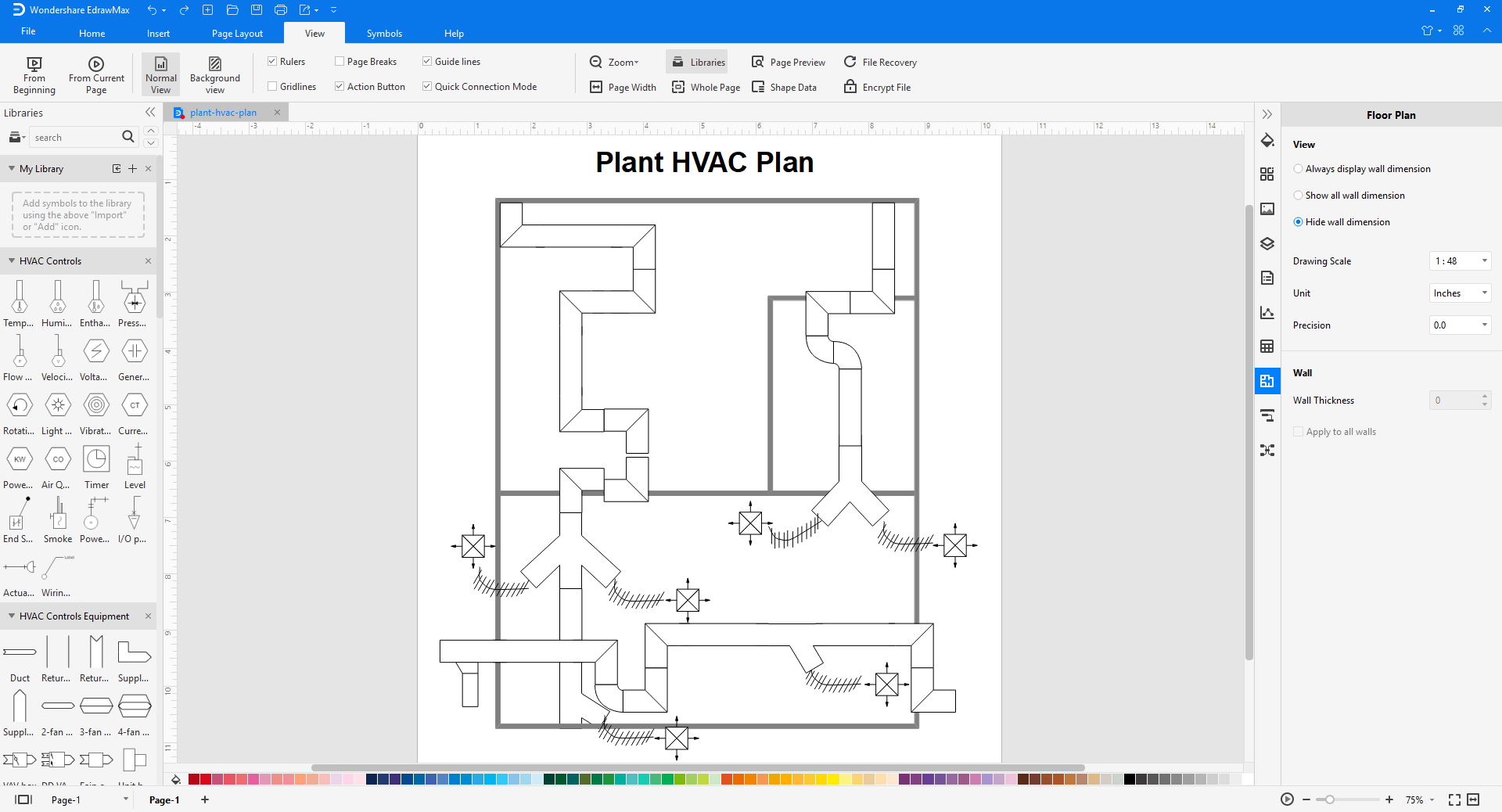 Standard HVAC Plan Symbols and Their Meanings | Hvac Drawing Conventions |  | Edraw