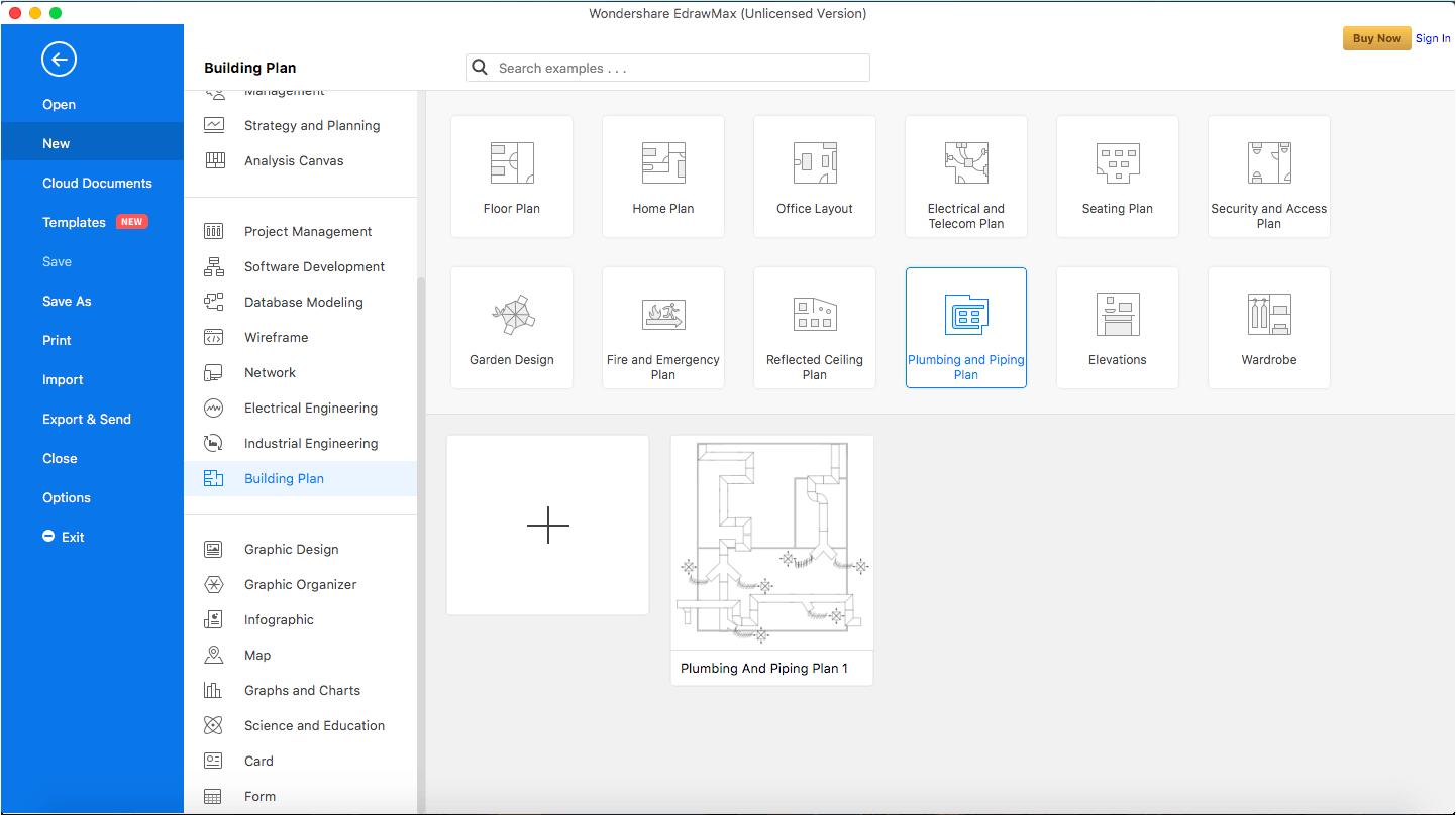 select hvac plan template
