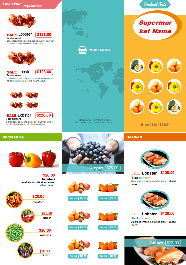 Supermarket Sale Brochure