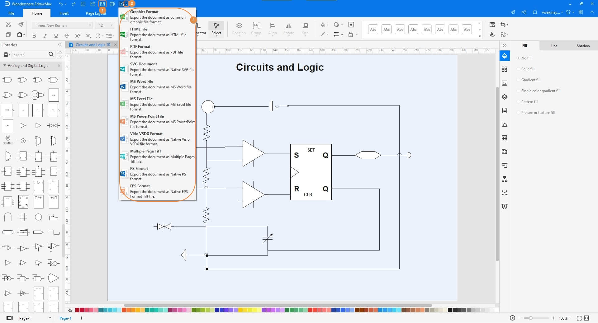 Save the Logic Diagram and Export