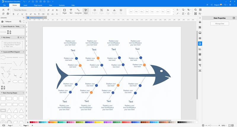make fishbone diagrams in EdrawMax