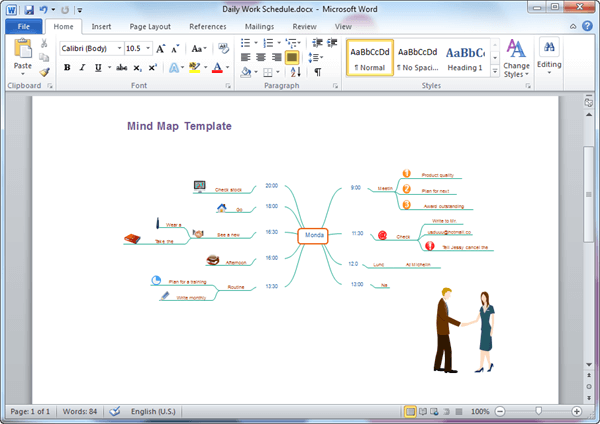 Word Mind Map Template