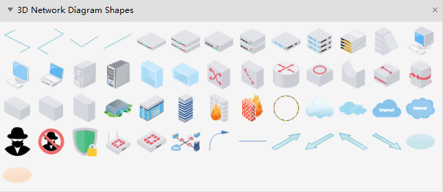 3D Network Diagram Shapes