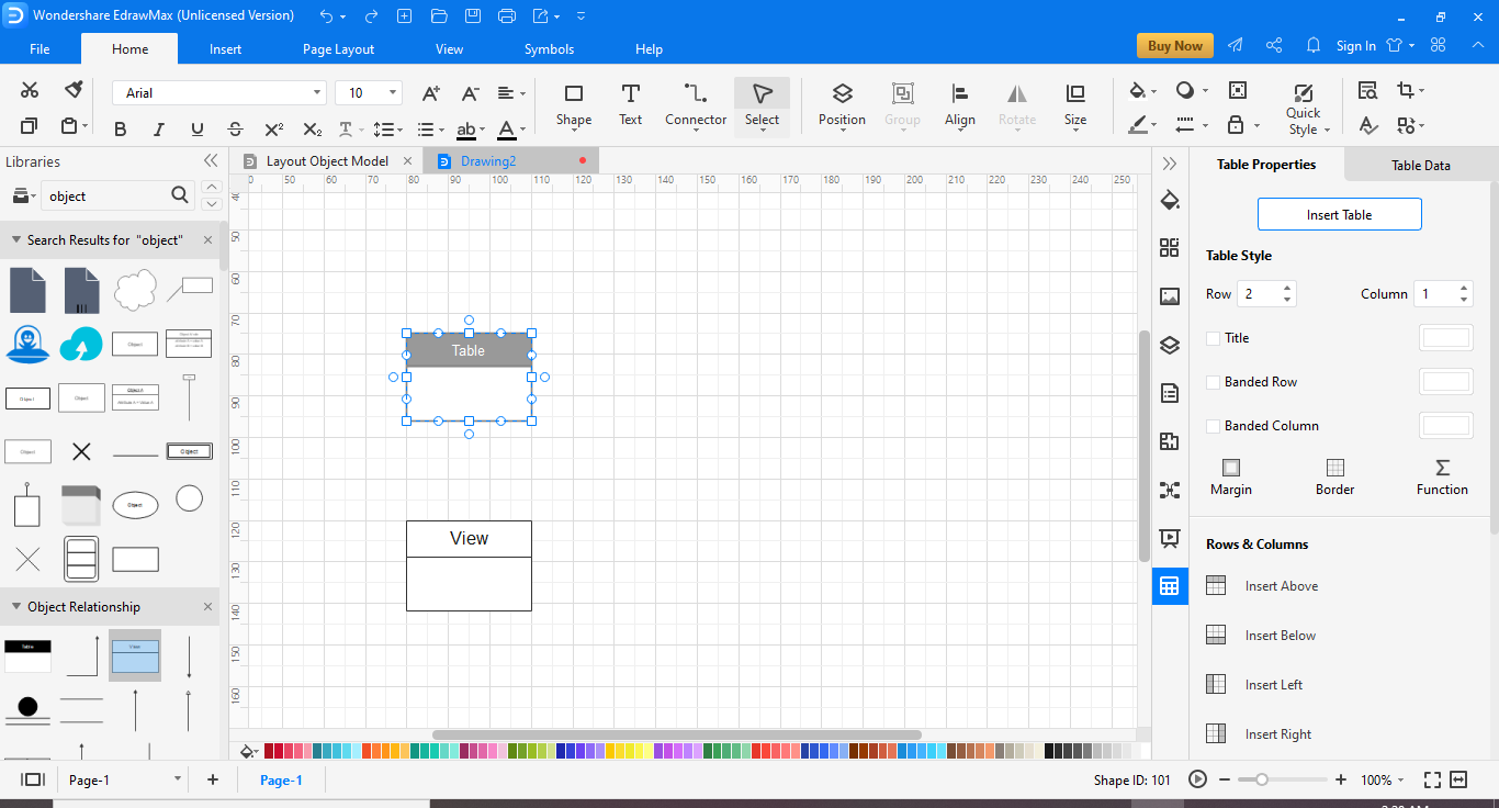 create your object diagram