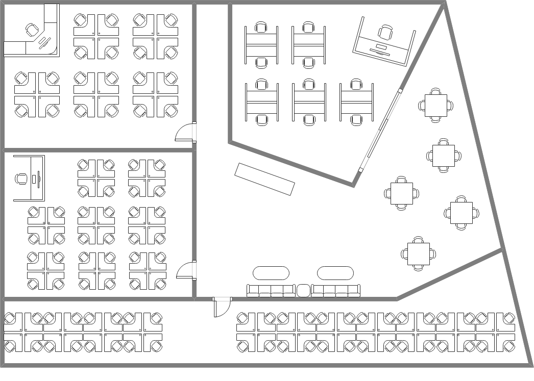 Hybrid Office Floor Plan