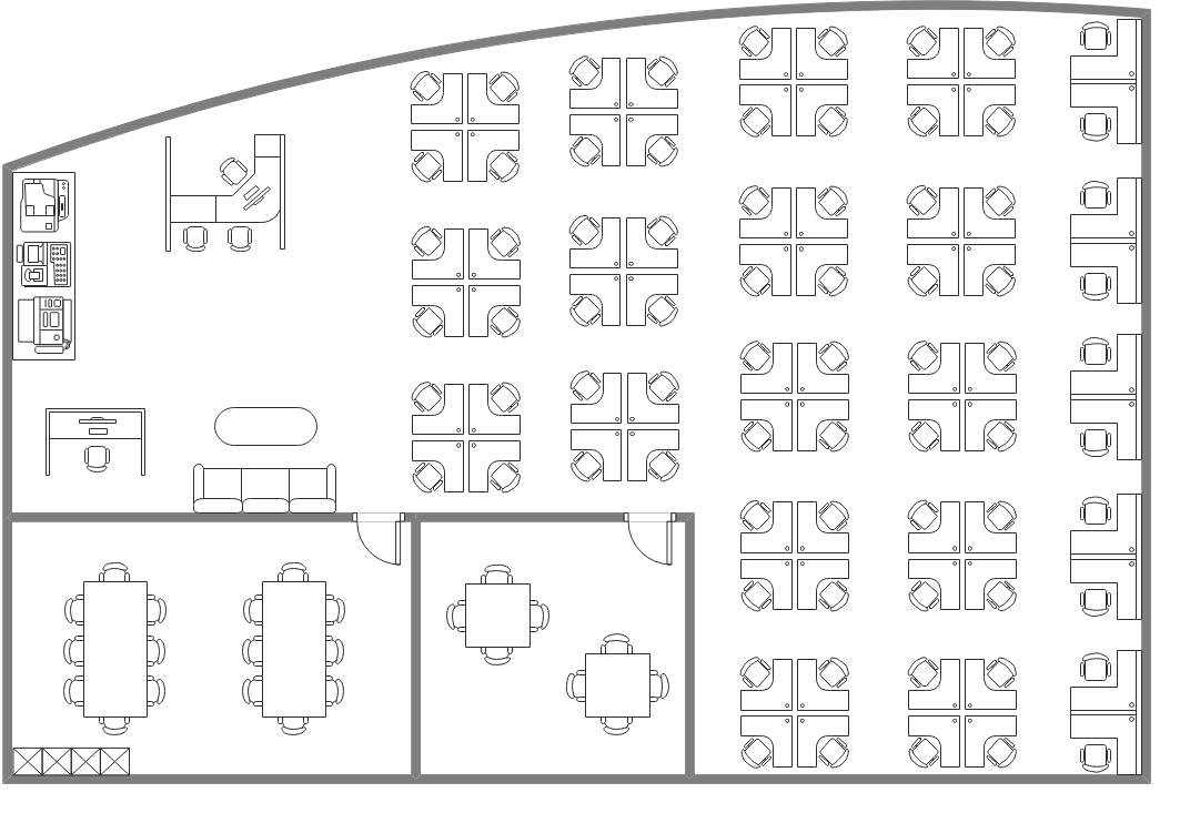 Open-plan Office Floor Plan