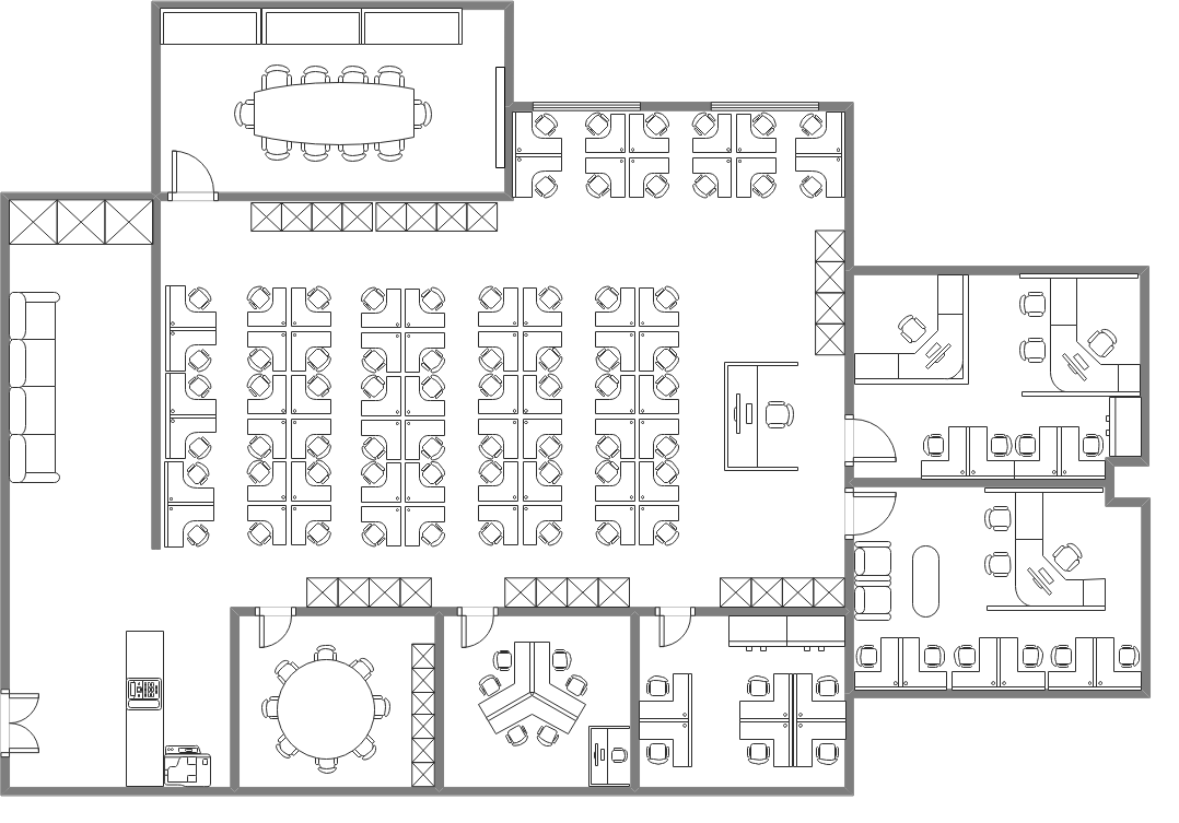 Traditional Office Floor Plan