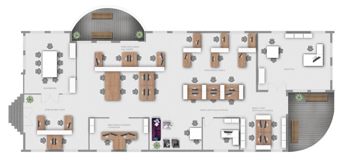 Open Floor Plan Offices