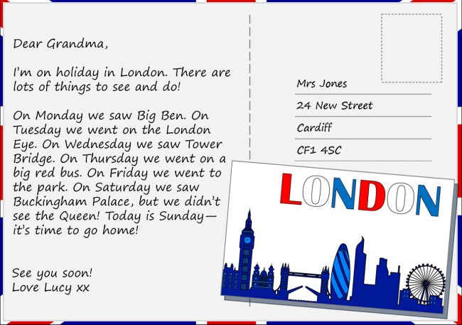 Postcard Example for Students
