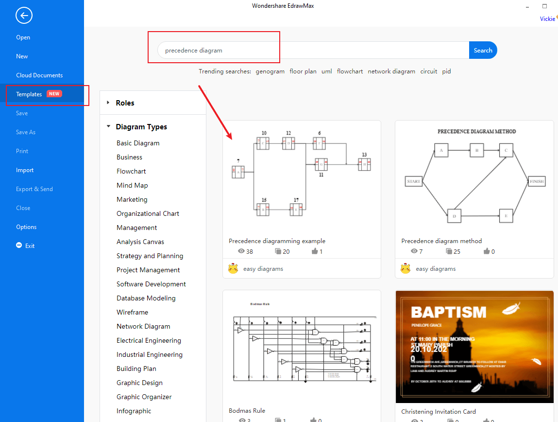 Go to the search bar