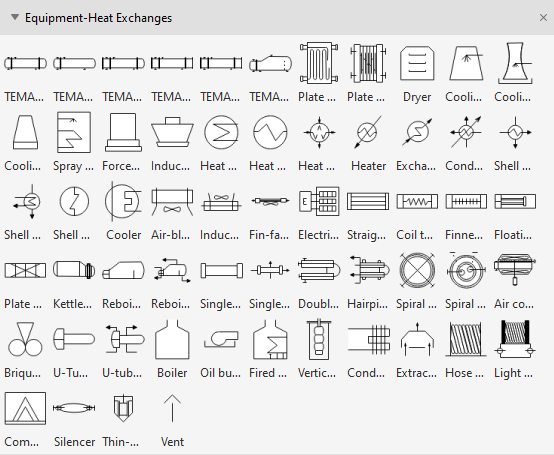 Process Flow Diagram Symbols - Heat Exchangers