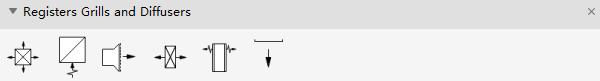 Símbolos de plano de teto refletido Regista difusores de grelhas