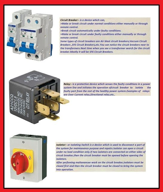 difference between a relay and a circuit breaker