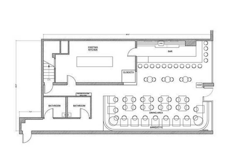 Bar Floor Plan