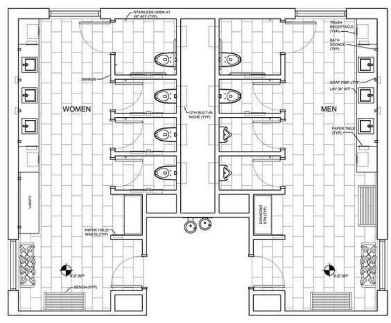 Restroom Floor Plan