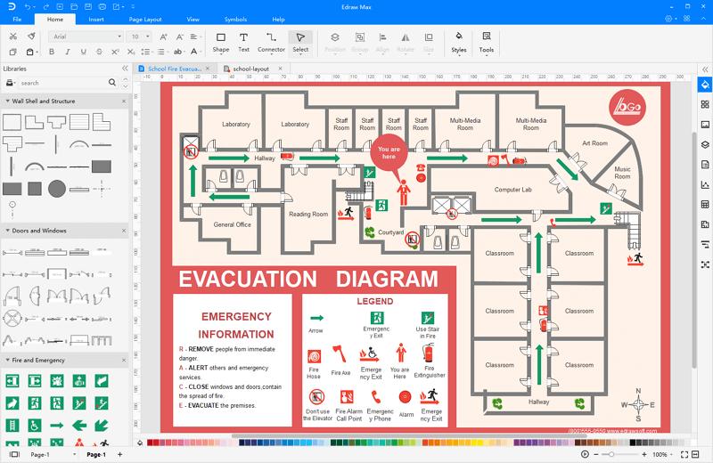 School Evacuation Plan