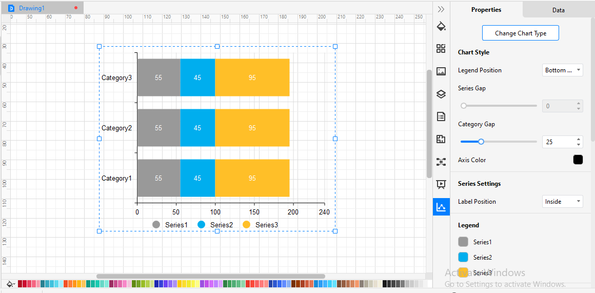 Customize Stacked Bar Chart