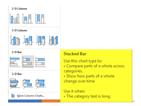 Select preferred Stacked Bar Chart