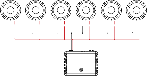 Six SVC Drivers attached to an Amplifier
