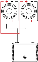 Two DVC Drivers attached to an Amplifier (Series/Parallel)