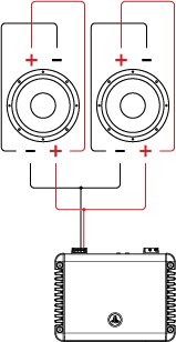 Two DVC Drivers attached to an Amplifier (Parallel/Parallel)